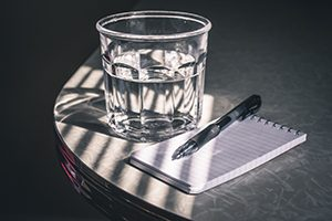 notepad-clear-drinking-water